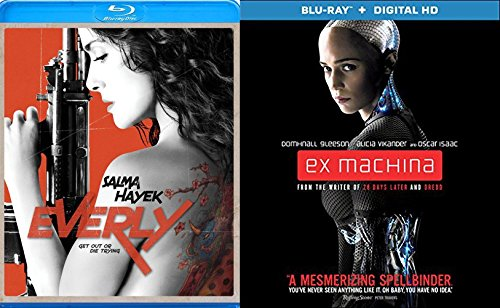 Ex Machina + Everly Blu Ray 2 Pack Sci-Fi Women Action Movie Set