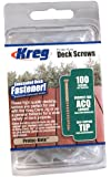 KREG SDK-C2W-100 2-Inch, #8 Coarse, Deck Screw, 100 Ct