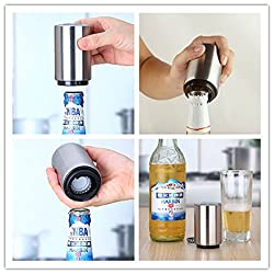 LussoLiv Stainless Steel Automatical Automatic Beer Bottle Opener Juice Drinking Openers