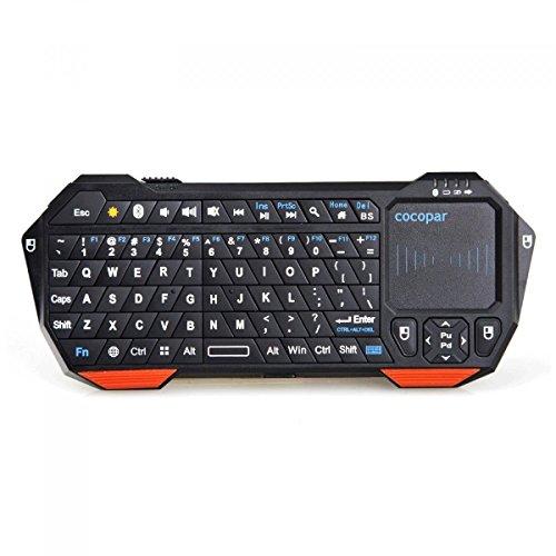 cocopar®超人気ワイヤレスBluetoothキーボード ハンドヘルド Bluetooth対応デバイスのためのマウスタッチパッド、バックライト、充電式リチウム電池付き-Android 3.0 +タブレット/Mac OS / Windows / Google Nexus 7 / Google Android TV Box / Samsung Galaxy S4 S2 S3 Note Tab / Apple iPhone 4 4S 3GS 3G/iPad 2 3 4 5/iPad Mini/PS3  HTPC/IPTVなどに適用できる