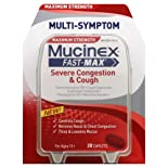 Mucinex Severe Congestion & Cold, Multi-Symptom, Maximum Strength, Caplets 20 ct