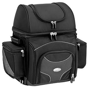River Road Spectrum Textile Sissy Bar Bag - Large/Black