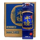 芋焼酎 日向木挽BLUE(ブルー)20度 1800ml紙パック  6本セット