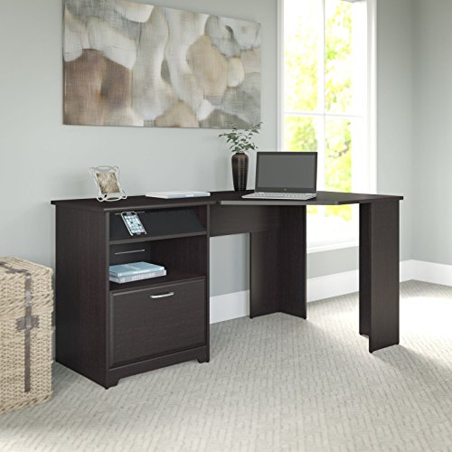 Cabot Collection:60-inch Corner Computer Desk, Espresso Oak (Corner Computer Desk Espresso compare prices)
