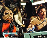 BILLY DEE WILLIAMS and MIKE QUINN as Lando Calrissian and Nien Nunb - Star Wars: Episode VI - The Return Of The Jedi GENUINE AUTOGRAPHS