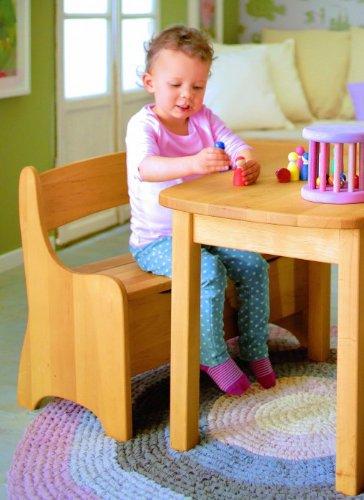 BioKinder 22813 Levin Spar-Set Kindertisch mit Kindersitzbank aus Massivholz Erle