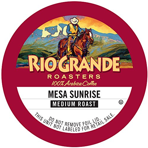 Rio Grande Roasters Mesa Sunrise, Medium Roast, Single Serve K-Cup, 12 Count