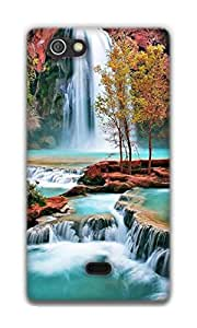 The Racoon Lean amazing waterfall hard plastic printed back case / cover for Sony Xperia Miro