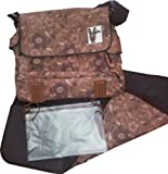 (Brown) Fully Padded HOPSTAR Designer Baby infant Changing Bag and Mat. A high quality travel nappy system with multiple pockets, a changing mat, a seperate messy bag. It's even got two insulated bottle holders to keep babys milk nice and warm. A great gift / present for the Mum or Dad to-be.