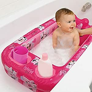 disney 39 s minnie mouse inflatable bath tub baby. Black Bedroom Furniture Sets. Home Design Ideas