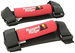 Rugged Ridge 13305.31 Red Neoprene Wrapped Deluxe Grab Handle - Pair
