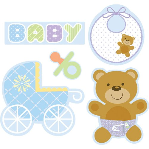 Teddy Baby Blue Cutout Assortment - 1