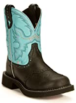 Hot Sale Justin Boots Women's Gypsy Boot,Black Deer Cow,9 B US