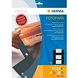Herma 7784 Fotosichthüllen (90 x 130 mm) 10 Hüllen schwarz