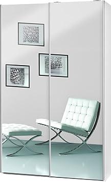 """Schwebeturenschrank """"Soft Plus Smart Typ 40"""", 120 x 194 x 42cm, Weiß/2 x Spiegel"""