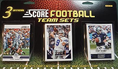 Dallas Cowboys 3 Team Set Factory Sealed Gift Lot Including 2015, 2014 and 2012 Score Team Sets