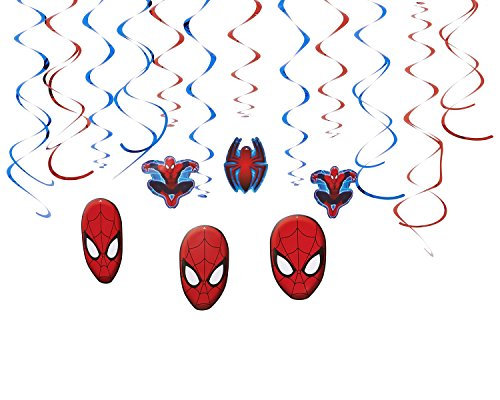 American Greetings Spider-Man Hanging Party Decorations, Party Supplies