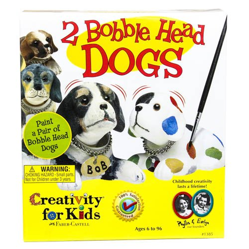 Creativity For Kids 2 Bobble Head Dogs To Paint Craft Kit front-545007