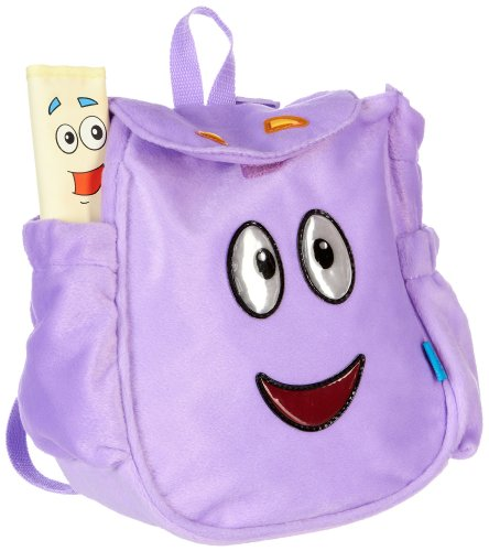 Dora the Explorer Map & Plush Backpack PURPLE Picture