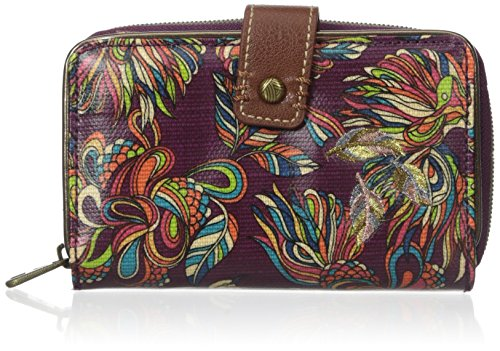 Sakroots Artist Circle Medium Wallet, Mulberry Treehouse, One Size