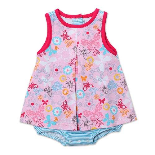 Zutano Baby-Girls Infant Summer Dream A-Line Jumper, Blush, 18 Months front-545808