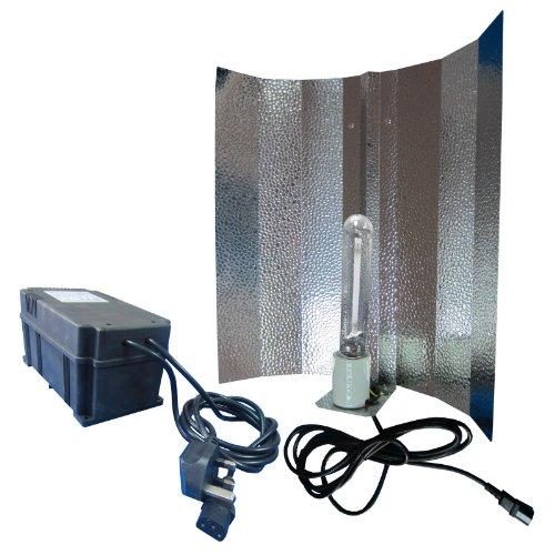 FoxHunter Hydroponic Bud Room Grow Tent Light Kit HPS Sodium Dual Spectrum Lamp Bulb Euro Reflector Plastic Compact Ballast 400W