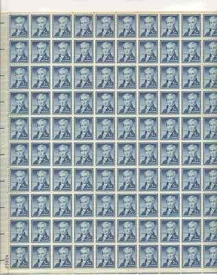 James Monroe Sheet of 100 x 5 Cent US Postage Stamps NEW