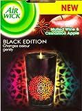3x Airwick Duftkerze mit Farbwechsel Black Edition Bratapfel Zimt Duftkerzen Kerzen NEU LED ohne Batterie