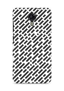 Amez designer printed 3d premium high quality back case cover for Micromax Canvas Xpress 2 E313 (Black n White Pattern8)