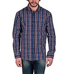 Enryca Men's Casual Shirt(ENMSH 0088BLACK -M_Black_40)