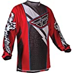 Fly Racing F-16 Race Jersey, Red/Black, Size: Lg 365-522L