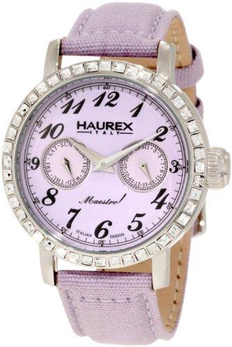 Haurex Women's 6S343DL1 Maestro R Lilac Dial Crystal Watch