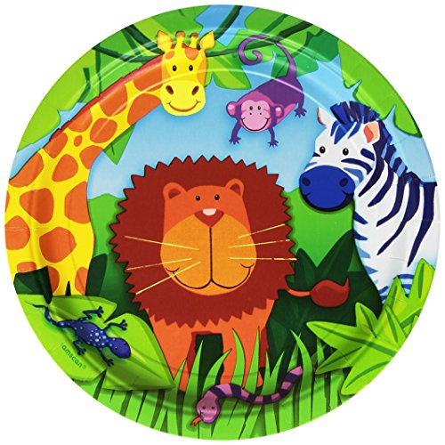"Amscan Jungle Animals 9"" Plates - 8 ct"