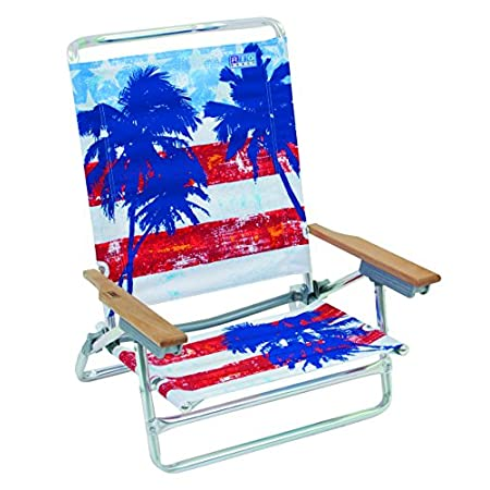 The Rio Beach Classic 5-Position Aluminum Beach Chair is made of durable, yielding polyester fabric and a lightweight, rust-proof aluminum frame. Five positions, including a flat position that's perfect for all-over tanning, allow for customized comf...