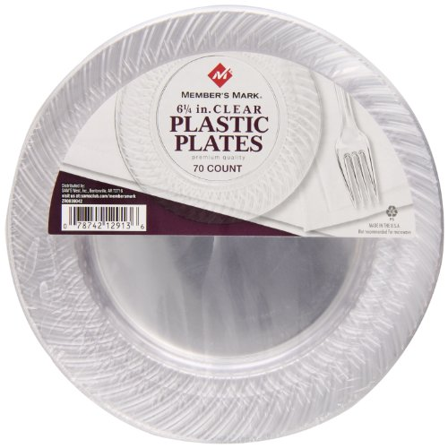 Member's mark Clear Plates, 6 1/4″, 70 Count