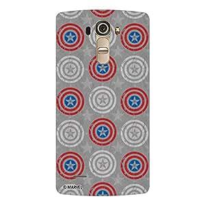 Marvel Civil War PBMARLGG4006 Captain Shield Back Cover for LG G4 (Multicolor)