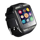 """IPUIS Q18 1.54"""" Smartwatch Montre Intelligente Connectée Bluetooth 3.0 NFC SIM Support Pour Smartphones OS Android IOS Bracelet en Silicone Noir"""