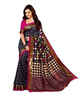 Glory Sarees Women's Bhagalpuri Silk Saree (kalapi24_Blue)