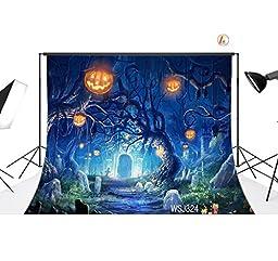 LB 7x5ft Halloween Vinyl Photography Backdrop Customized Photo Background Studio Prop WSJ324