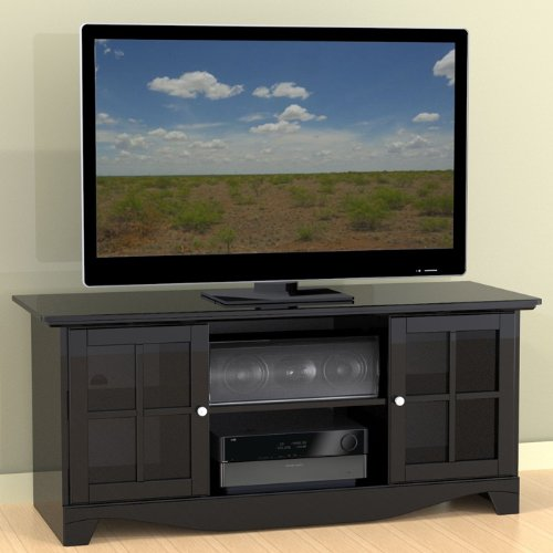 Cheap Pinnacle TV Console with Glass Doors (B005LRFSFE)