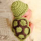 Mokingtop Baby Girls Boy Newborn Newborn Turtle Knit Crochet Clothes Beanie Hat Outfit Photo Props