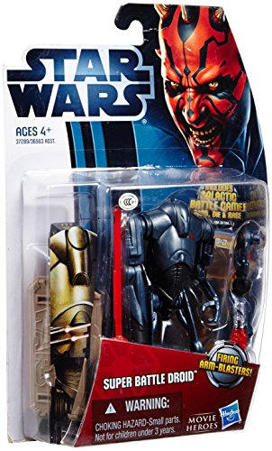 Star Wars: Movie Legends 2012 Episode II Attack of the Clones 3.75 inch Super Battle Droid Action Figure by Hasbro - 1