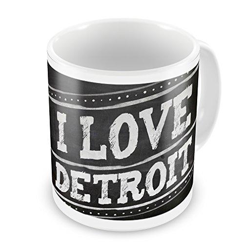 Coffee Mug Chalkboard With I Love Detroit - Neonblond