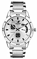 Espoir analog White Dial Men's Watch (ES 109)