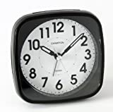 Classic Bold Traditional BLack Quartz Sweeping Non Ticking Alarm Clock