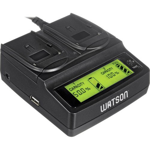 Watson Duo Lcd Charger For Cg-Rdu Series Batteries - Panasonic Cga-D220, Cga-D320, Cga-D54, Cgr-D08, Cgr-D16, Cgr-D28, And Cgr-D53 Type