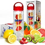 Savvy Infusion® Water Bottle - 24 Oz - Create Your Own Naturally Flavored Fruit Infused Water, Juice, Iced Tea, Lemonade & Sparkling Beverages