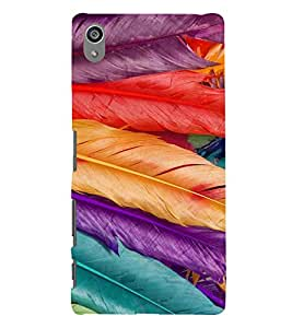PrintVisa Feathers Pattern 3D Hard Polycarbonate Designer Back Case Cover for Sony Z5 Plus :: Z5 Premium