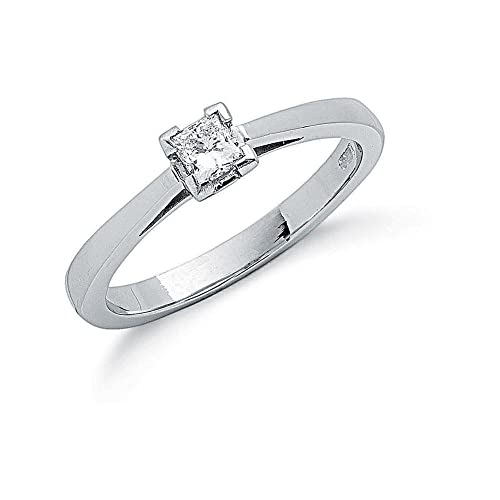 Platinum 0.25ct Princess Cut Diamond Engagement Ring