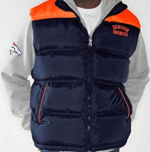 Denver Broncos NFL Astroturf Systems 3-in-1 Heavyweight Vest Jacket by G-III Sports